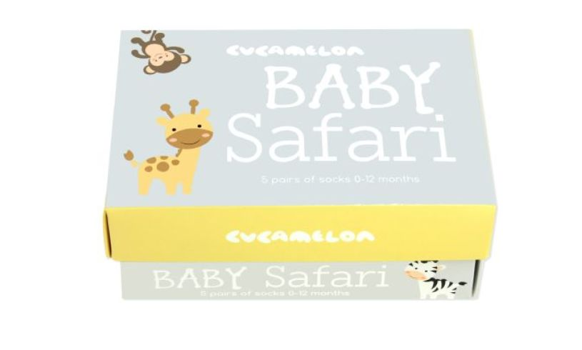 Baby Safari Socks Box