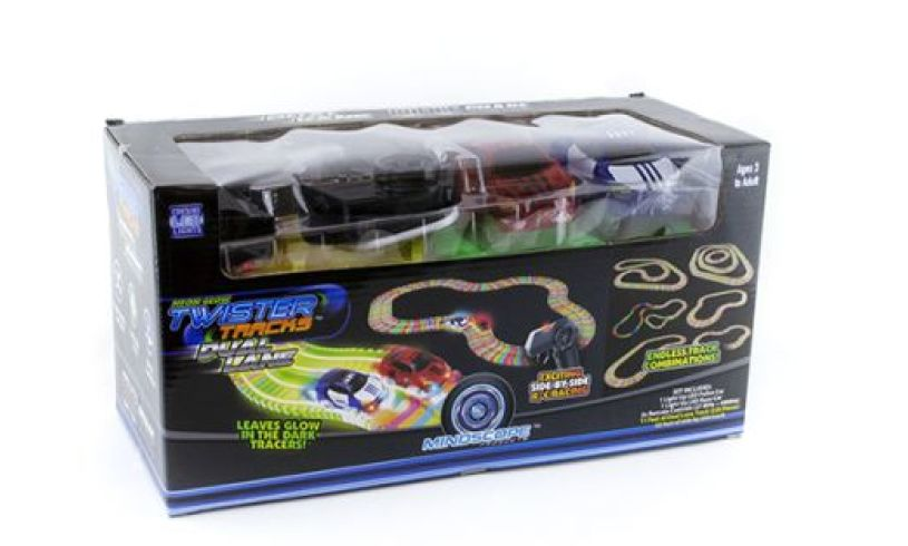 box with twister tracks police car