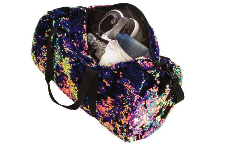 Magic Sequin Velvet Duffel Bag Full
