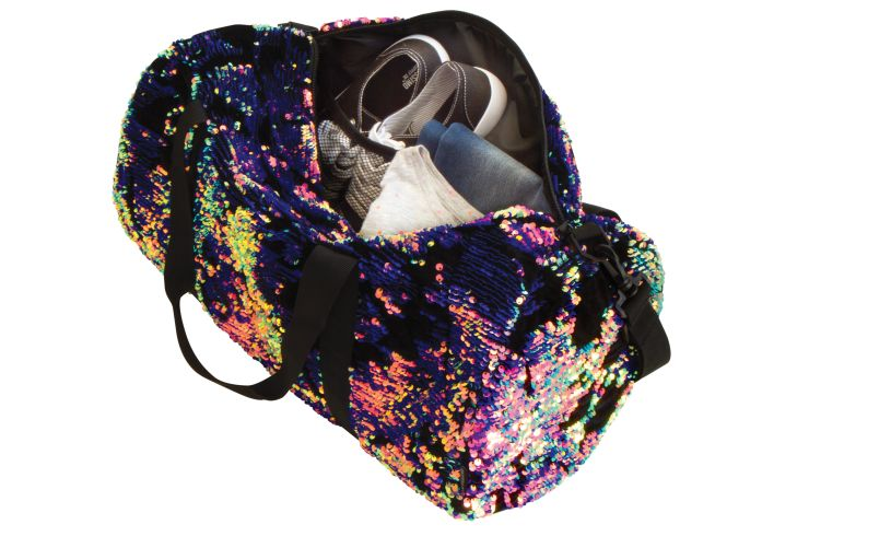 Magic Sequin Velvet Duffel Bag Full