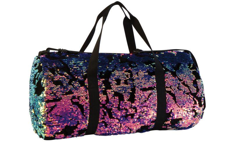 Magic Sequin Velvet Duffel Bag Open