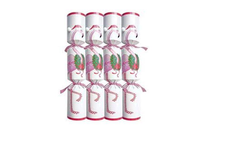 Festive Flamingo Christmas Crackers