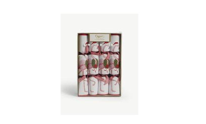 set of Flamingo Chrstimas Crackers