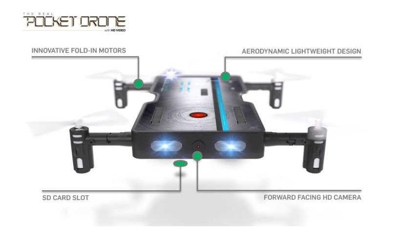 Pocket Drone with Video and Photo data