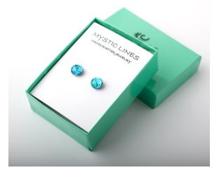 Aqua Green Color Changing Glass Earrings Lovely
