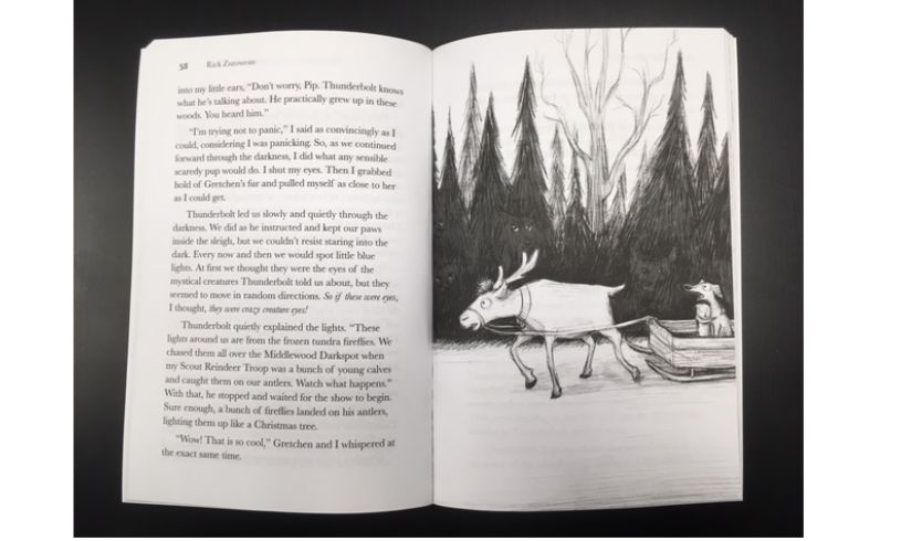 inside Christmas at Dog Village book