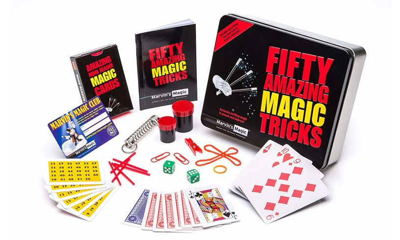materials included with fifty amazing magic tricks