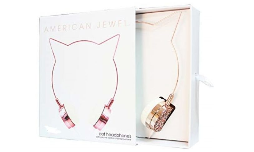 American Jewel Headphones - Rainbow Cat
