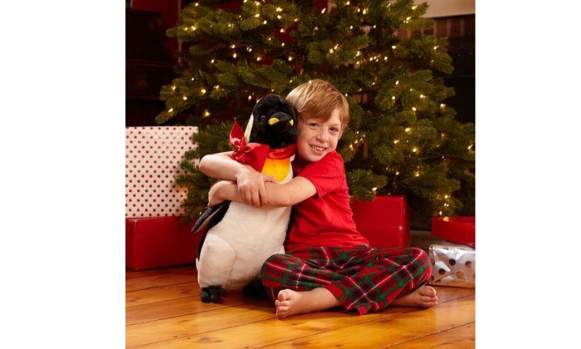 Giant Stuffed Penguin Boy