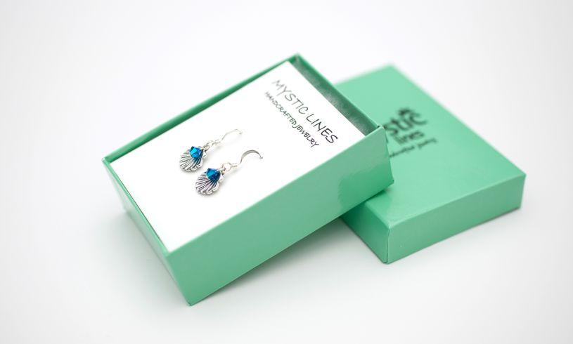 Earrings in box