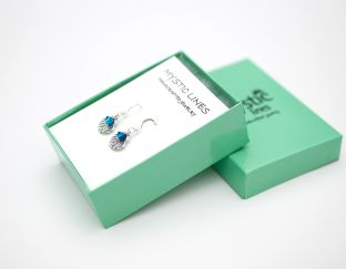 Earrings in box