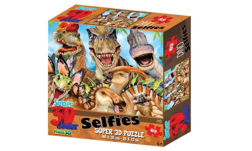 T-Rex Super Selfie Puzzle  3D effect