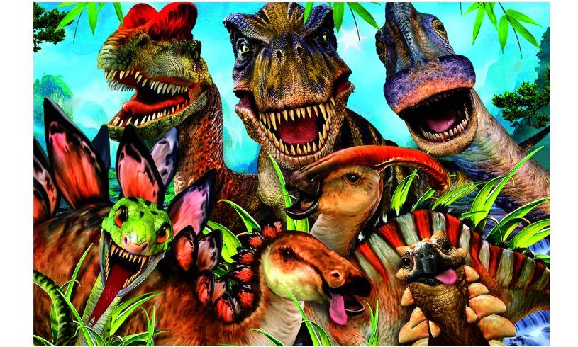 Smile T-Rex selfie puzzle