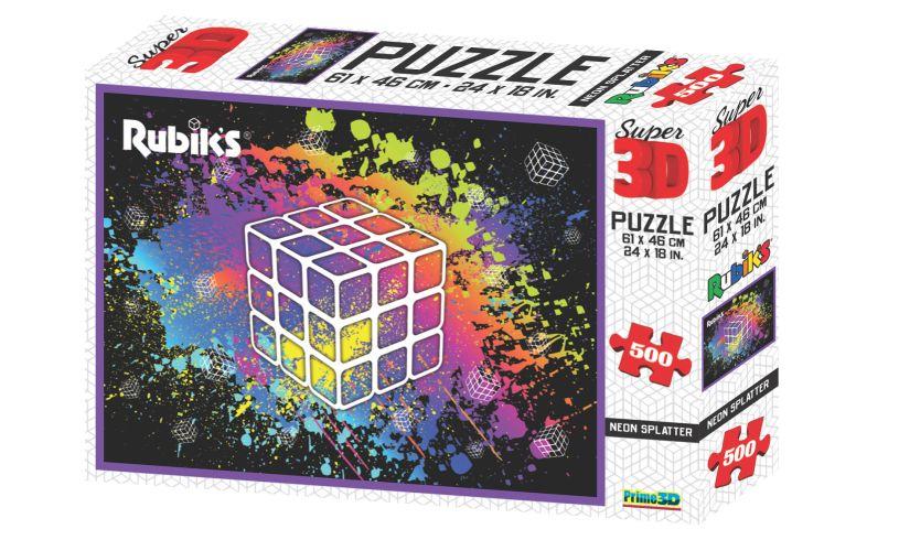 Rubik's Super 3D effect 500 piece puzzle