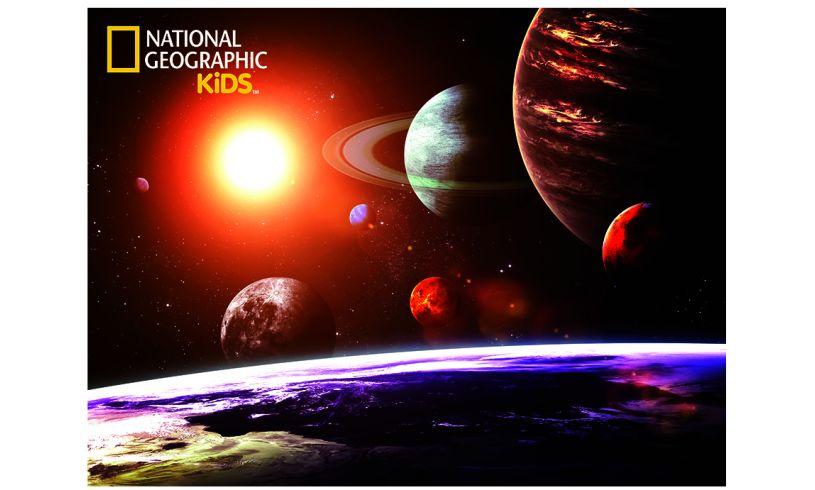 Nat Geo Kids 3D effect planet puzzle