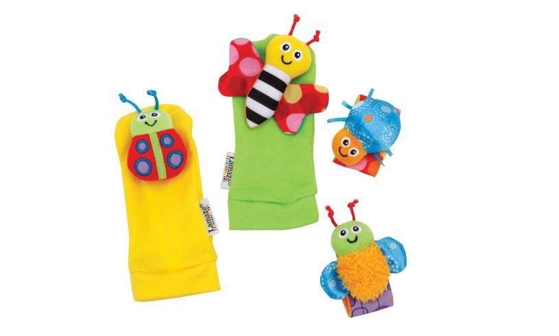 Gardenbug Foot Finder & Wrist Rattle Set Contents