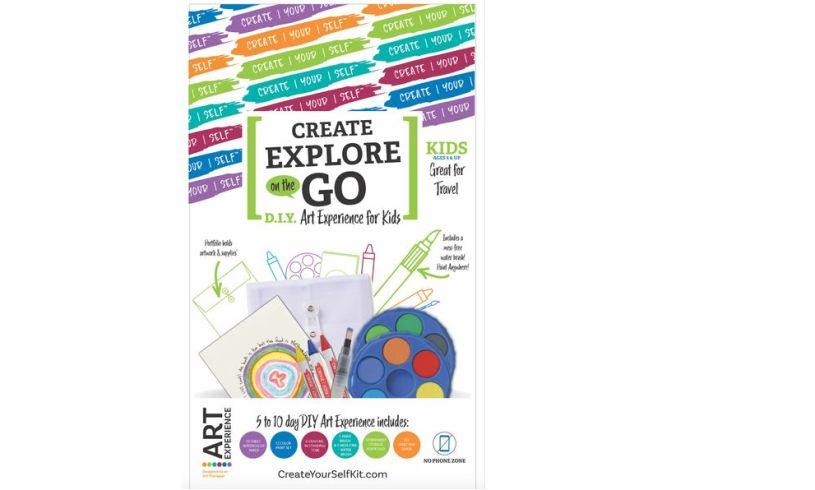 Create Explore Art Kit on the go
