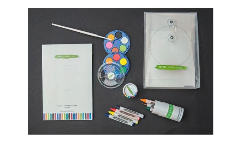 supplies included in on the go art