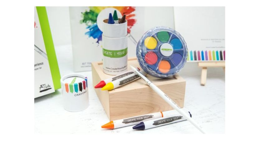 making art on the go materials