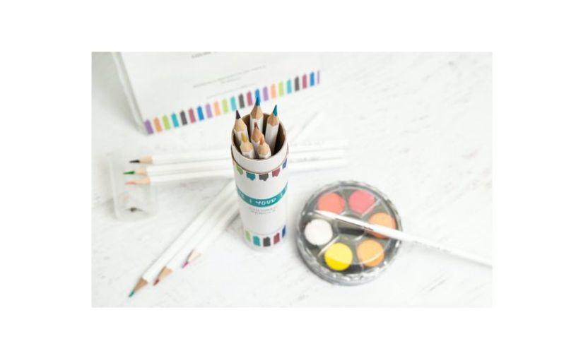 paints pencils reflective art
