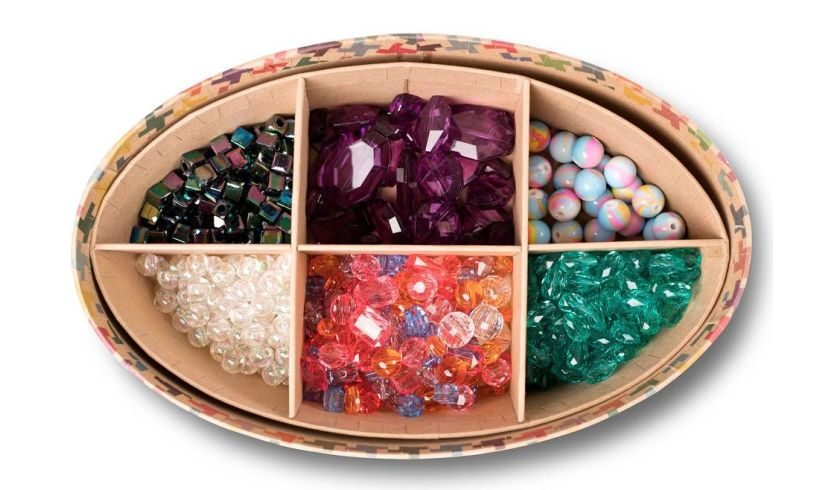 variety of beads with jewelry jam