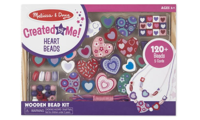 Sweet Hearts Wooden Bead Set Packaging