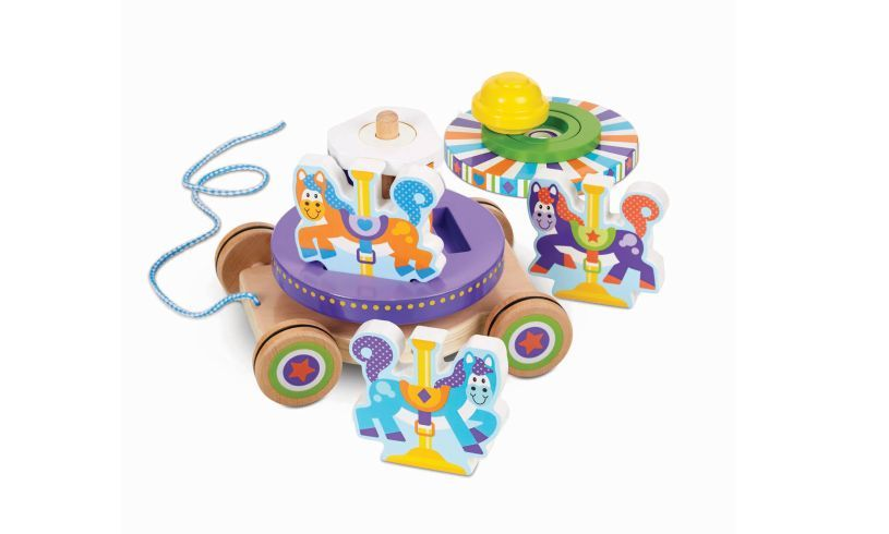 Carousel Pull Along Wooden Toy