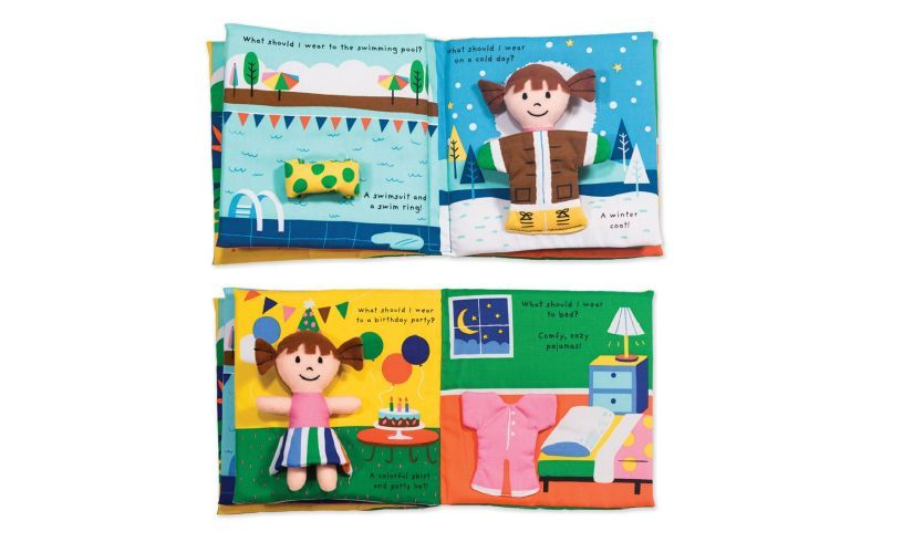 What Should I Wear? Soft Activity Book Page Detail