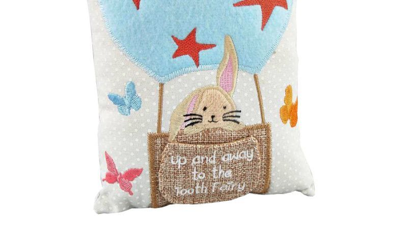 Bunny Tooth Fairy Pillow detail
