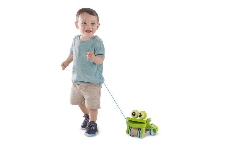 Frolicking Frog Pull Along Boy