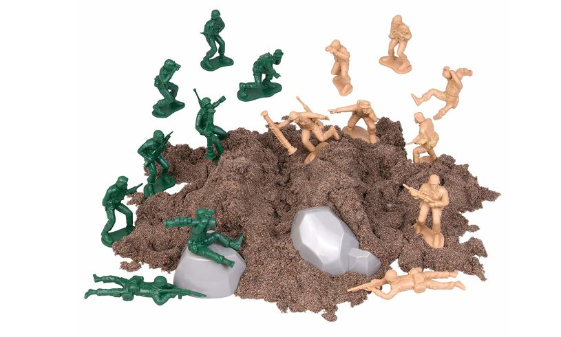 Special forces play dirt in action