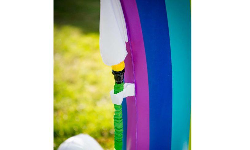 Hose hook up to rainbow sprinkler