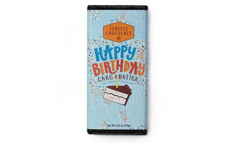 Birthday cake chocolate bar