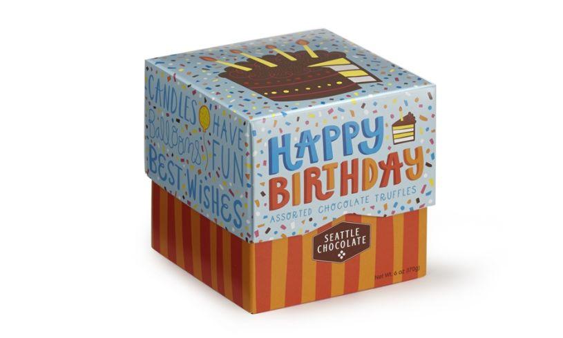 Birthday chocolate truggle box