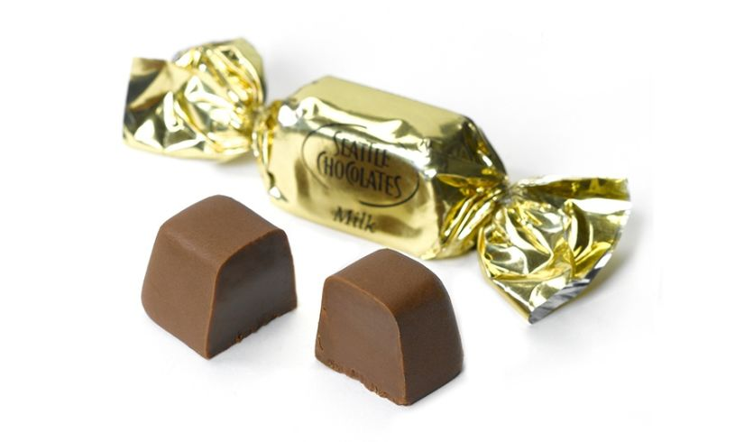 gold wrapped and unwrapped truffle