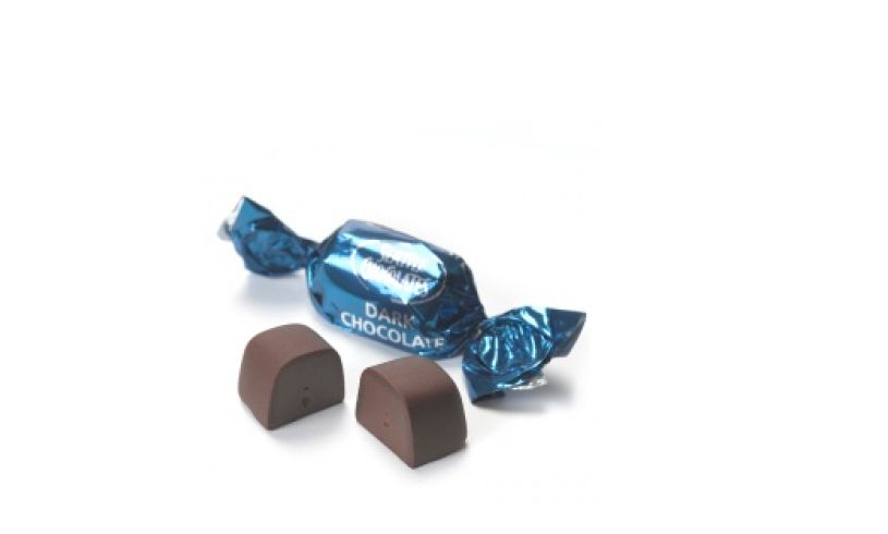 blue wrapped and unwrapped truffle
