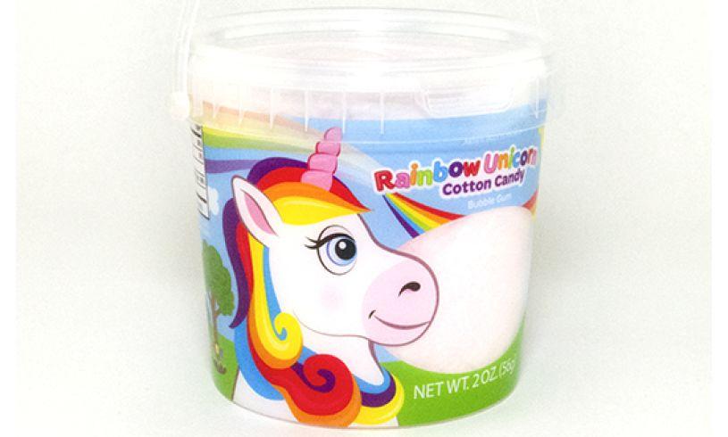 rainbow unicorn cotton candy bubble gum flavor