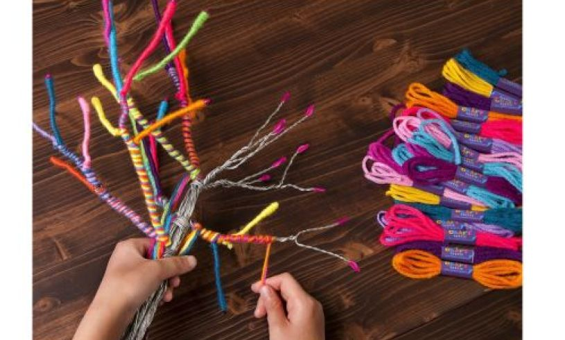 The Yarn Tree Kit - DIY Threading details