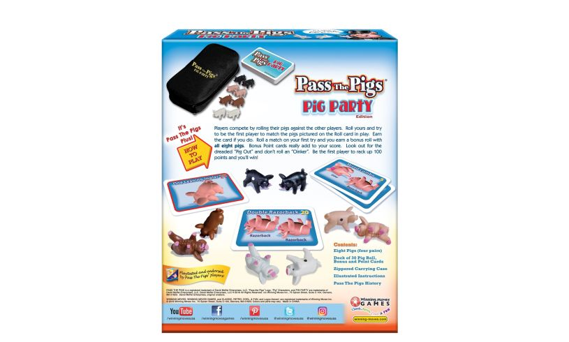 back of box directions to play Pass the Pigs
