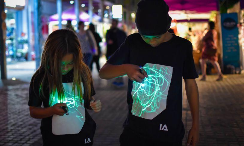 Illuminated Apparel Black Interactive Glow T-Shirt