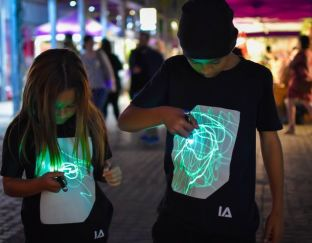 Illuminated Apparel Black Interactive Glow T-Shirt