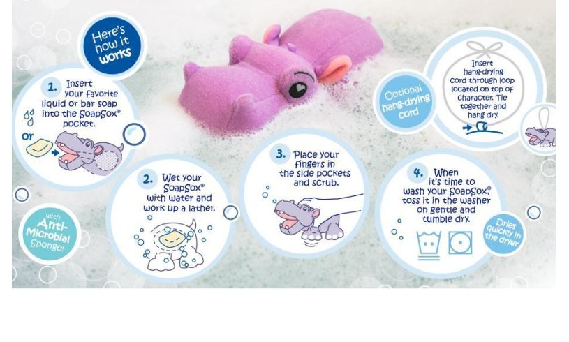 hippo in water with instructions