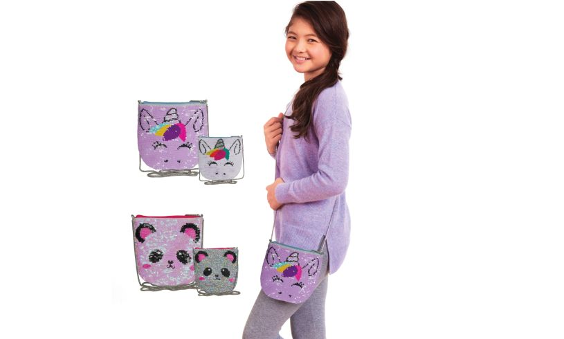 girl carrying the unicorn purse