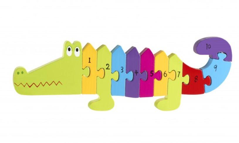Crocodile Number Puzzle Detail
