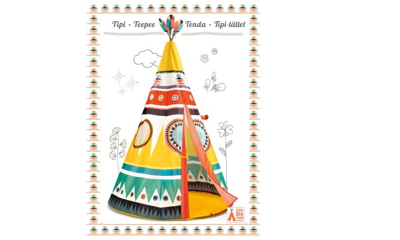 Teepee play tent box