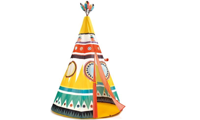 Teepee with open flap