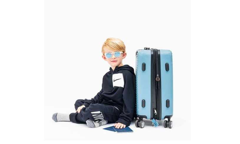 Boy wearing Babiator Jet setter sunglasses