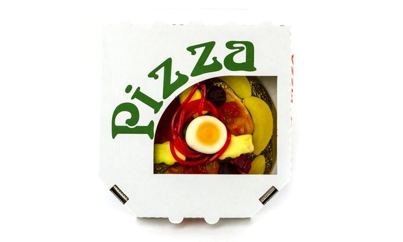 Candy Pizza Box Open