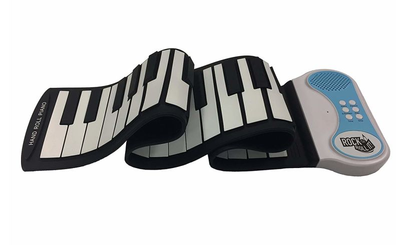 box with flexible roll up piano