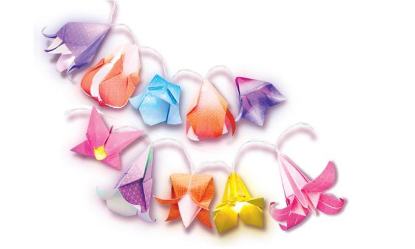 Origami Flower Lights Flowers